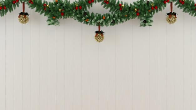 La decorazione di legno 3d del fondo del modello dell'albero del pavimento della parete di natale rende