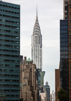 Edificio chrysler e architettura di manhattan