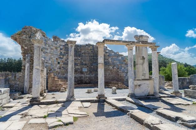 La chiesa di maria (chiesa del consiglio) nell'antica città di efeso a selcuk, turchia