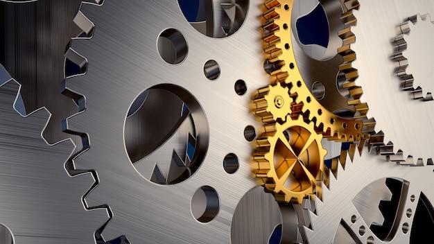 Cinema 4d rendering di sfondo astratto cambio marcia