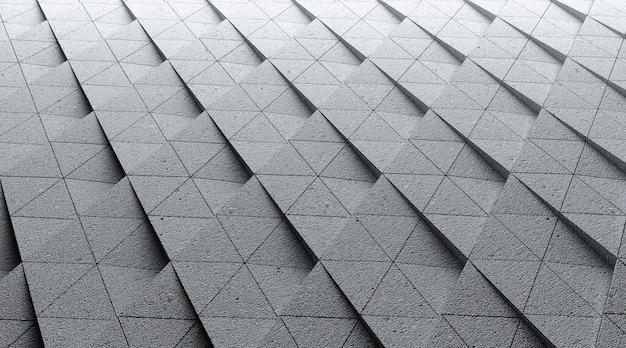 Rendering del cinema 4d dell'illustrazione geometrica del fondo della scala a forma di rombo