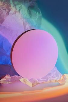 Cerchio su uno sfondo luminoso elegante a colori per mostrare i prodotti.