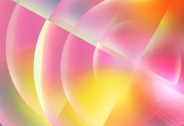 Sfondo effetto luci al neon circolari incandescenti