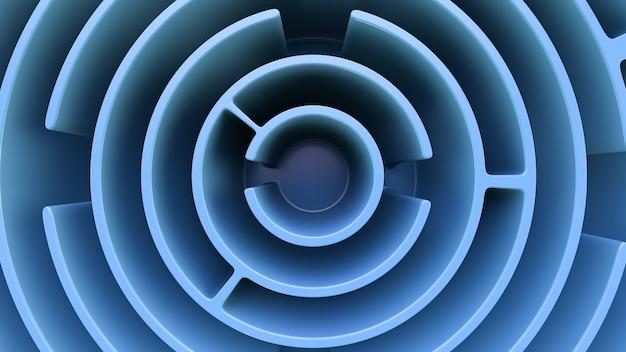 Un labirinto circolare. vista dall'alto. fotogramma intero