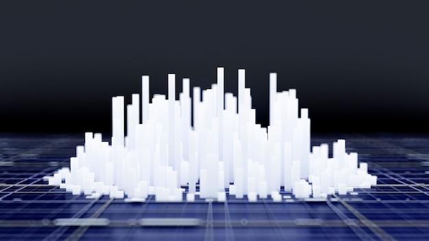 Sfondo di città 3d rendering illustrazione