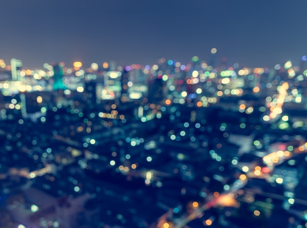 Luce della città sfocata, astratto.