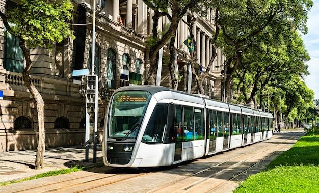 Tram della città di rio de janeiro, brasile