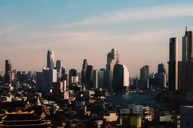 Paesaggio urbano nel mezzo di bangkok, thailandia