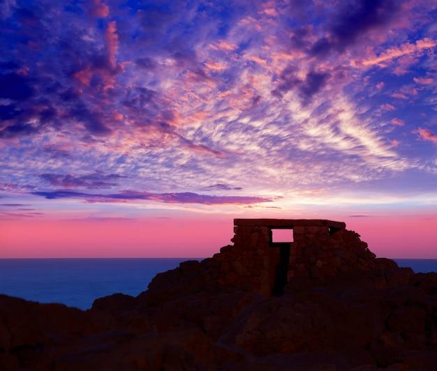 Ciutadella menorca al tramonto di punta nati in balearic