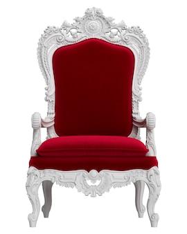 Classica poltrona barocca solated su sfondo bianco. illustrazione digitale. rendering 3d