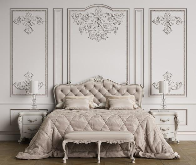 Interno camera da letto classica con spazio di copia