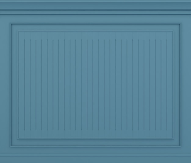 Rendering 3d classico muro blu