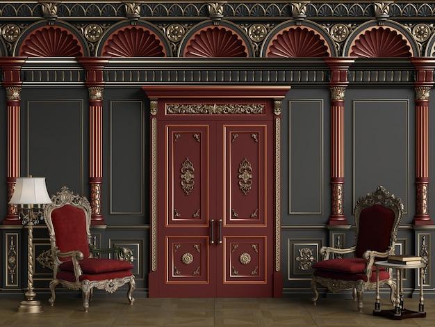 Sedie classiche in interni di lusso