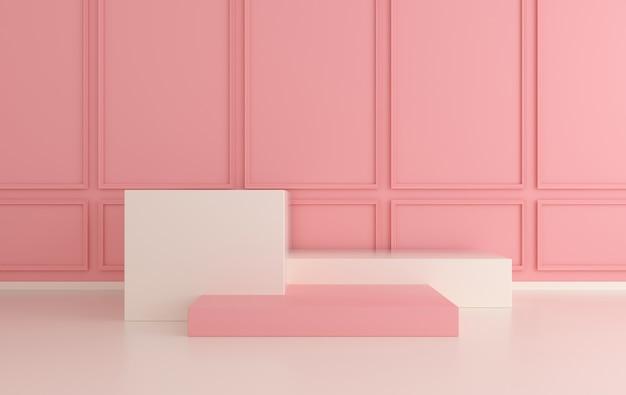 Pareti interne classiche con podio sul pavimento piattaforme per la presentazione del prodotto