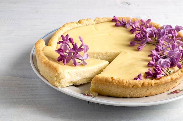 Cheesecake classica fatta in casa a new york.