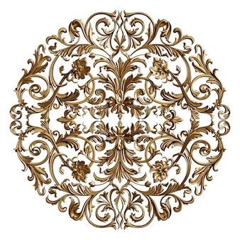 Decorazione classica dell'ornamento isolata