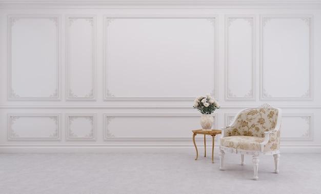 Soggiorno in stile classico con sedia.