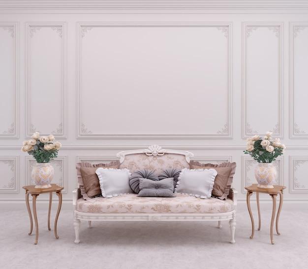 Divano in stile classico in soggiorno