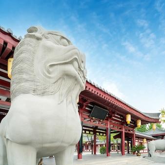 Architettura classica a xi'an, provincia di shaanxi, cina.