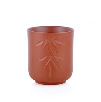 Coppa di argilla isolata