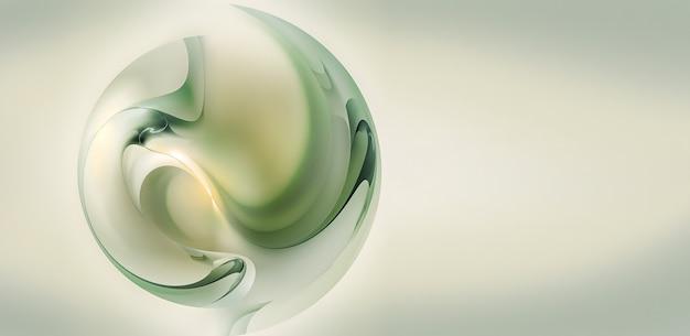 Sfondo chiaro pulito con sfera astratta in stile d