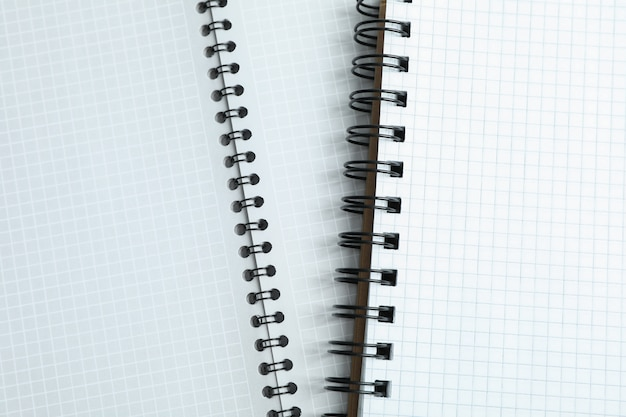 Pulisci i quaderni dell'ufficio come spazio, spazio per il testo