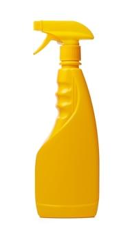Flacone spray per la pulizia isolato su sfondo bianco