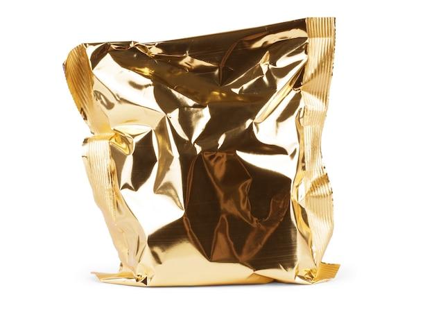 Mockup di confezione di patatine bianche trasparenti. biscotti, caramelle, zucchero, cracker, noci, contenitore di plastica in alluminio per supermercato di giuggiole pronto per la progettazione del logo o la presentazione dell'identità.