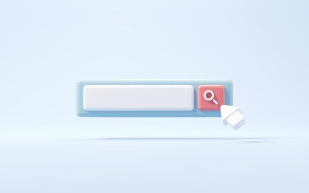 Fare clic per cercare o lente di ingrandimento nella barra di ricerca vuota sullo sfondo