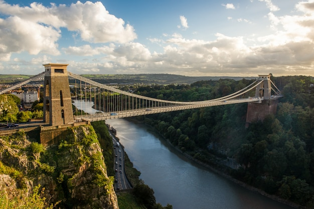 Clifton suspension bridge, bristol, regno unito