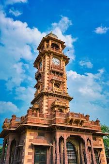 Punto di riferimento locale di ghanta ghar della torre dell'orologio a jodhpur rajasthan in india