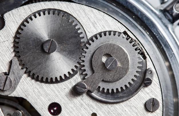 Vecchio orologio meccanico ad alta risoluzione e dettaglio