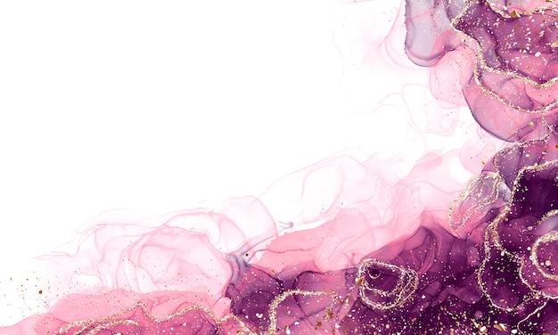 Chiuda in su arte fluida astratta dell'inchiostro dell'alcool