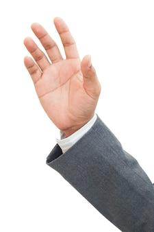 Primo piano sul braccio dell'uomo d'affari isolato