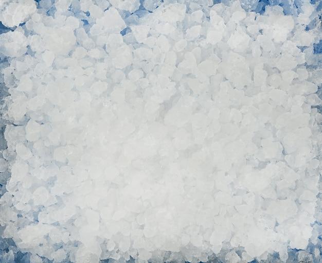 Close up texture di sfondo di ghiaccio tritato, direttamente sopra