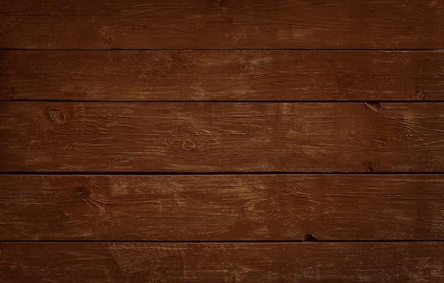 Close up texture di sfondo di marrone scuro vintage weathered tavole di legno dipinte, pannello a parete in stile rustico