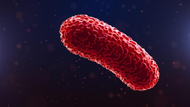 Primo piano sui batteri su sfondo medico