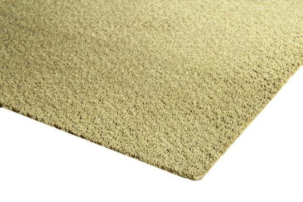 Primo piano su texture tappeto beige isolato