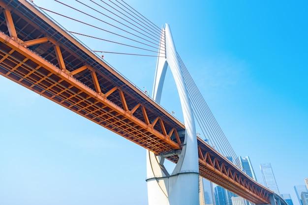 Primo piano della struttura del ponte, chongqing yangtze river bridge