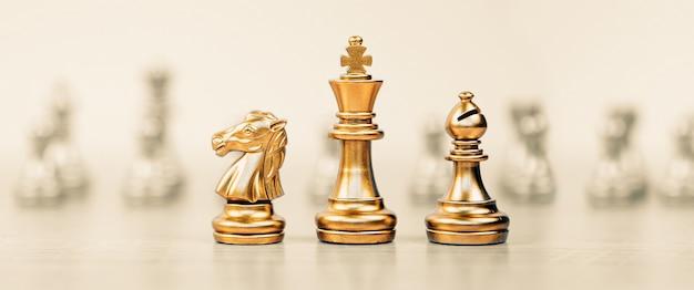 Squadra di scacchi del primo piano davanti alla fila.