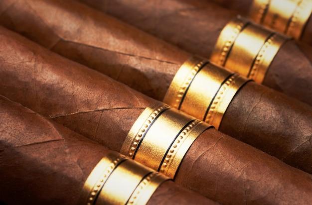 Primo piano di sigari