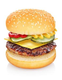 Primo piano del classico cheeseburger