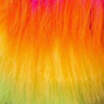 Primo piano di pelliccia colorata