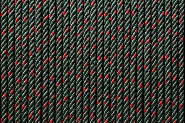 Close up dettaglio corda nera texture di sfondo