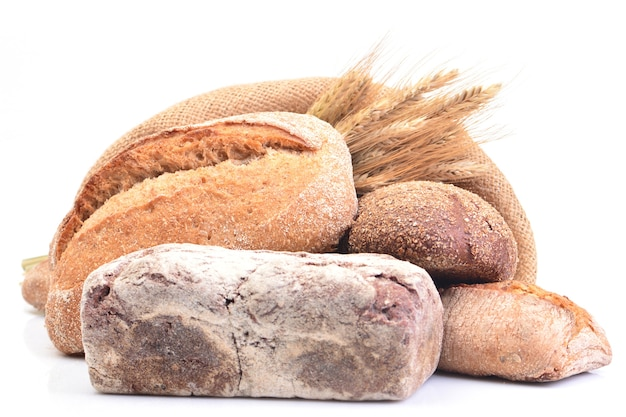 Primo piano di pane delizioso fresco