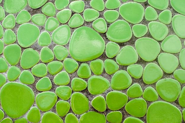 Primo piano di piastrelle di ceramica verde