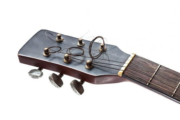 Chiuda in su della paletta della chitarra