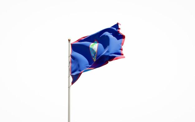 Primo piano sul rendering bandiera nazionale isolata