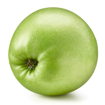 Primo piano su succosa mela fresca isolata