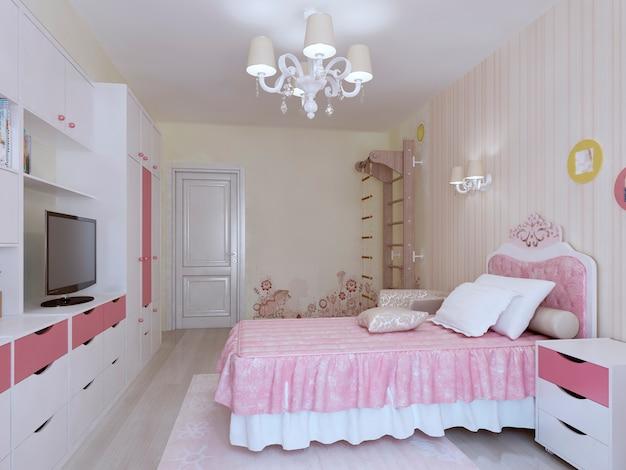 Primo piano della lussuosa camera da letto